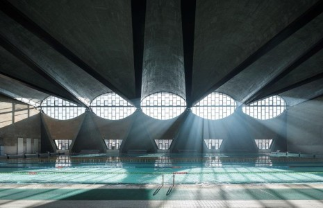 Terrence Zhang , winner of the Sto-sponsored Arcaid images photography Award 2017 at the World Architecture Festival for the 'Swimming Pool', at Tianjin University New Campus.